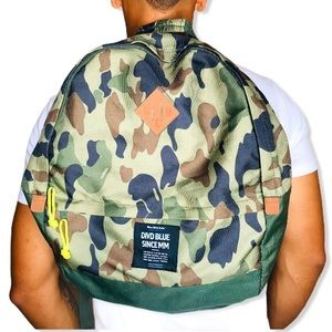 H&M Divided Blue Label Camouflage Backpack